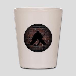 Hockey Goalie Shot Glass