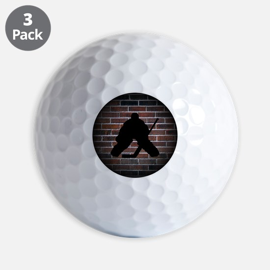 Hockey Goalie Golf Ball