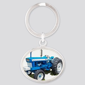 Ford5000-10 Oval Keychain