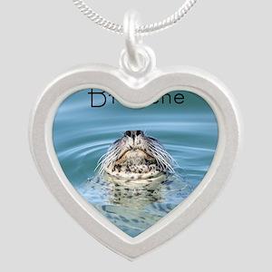 breathe Silver Heart Necklace