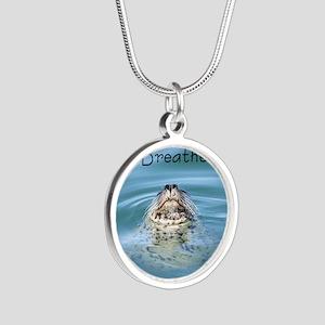 breathe Silver Round Necklace