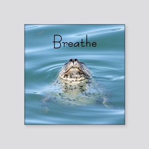 "breathe Square Sticker 3"" x 3"""