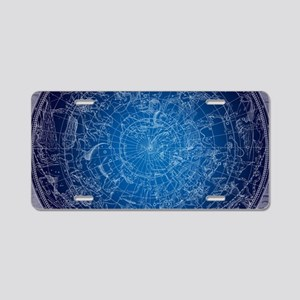 Celestial Wall Map Aluminum License Plate