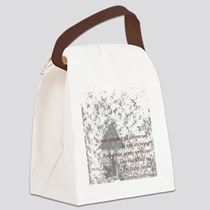 Poem XIII Canvas Lunch Bag