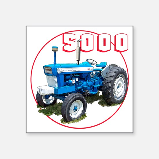 "Ford5000-C8trans Square Sticker 3"" x 3"""