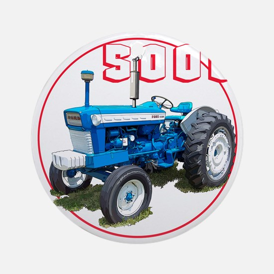 Ford5000-C8trans Round Ornament