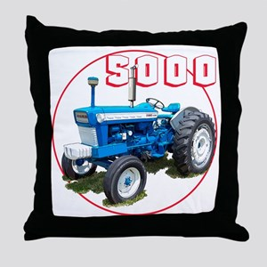 Ford5000-C8trans Throw Pillow
