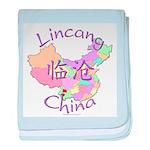 Lincang China Map baby blanket