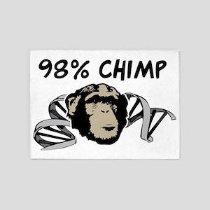 98% Chimp 5'x7'Area Rug