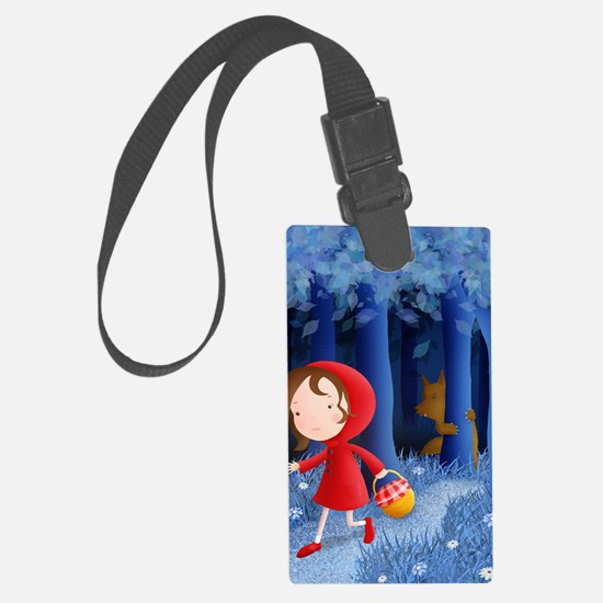red riding hood illustration Luggage Tag