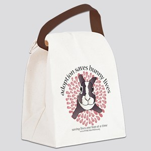 adoptionsavesbunnies-PINKtotebag Canvas Lunch Bag