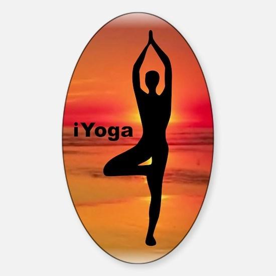 iyoga Sticker (Oval)