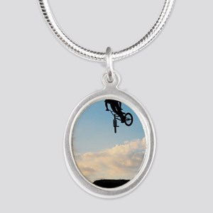 RIDE Silver Oval Necklace
