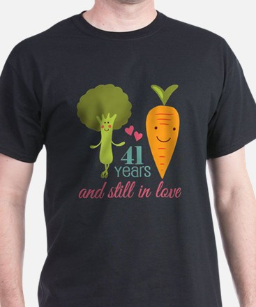 41 Year Anniversary Veggie Couple T-Shirt