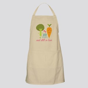40 Year Anniversary Veggie Couple Apron