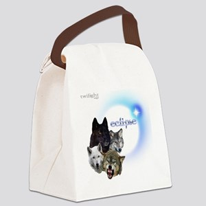Twilight Eclipse Wolf Pack Neon b Canvas Lunch Bag