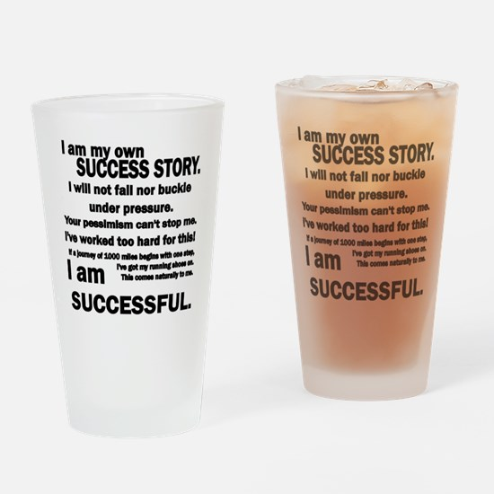 Success story black Drinking Glass