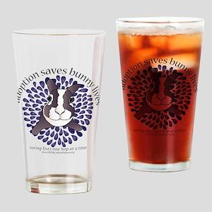 adoptionsavesbunnies-PLUMtotebag Drinking Glass