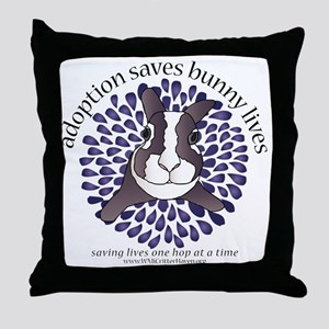 adoptionsavesbunnies-PLUMtotebag Throw Pillow