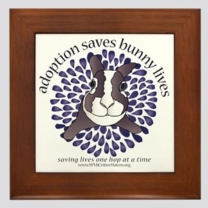 adoptionsavesbunnies-PLUMtotebag Framed Tile