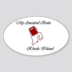 Ancestral Roots Rhode Island Oval Sticker