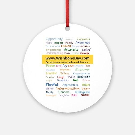 Wish Words Round Ornament