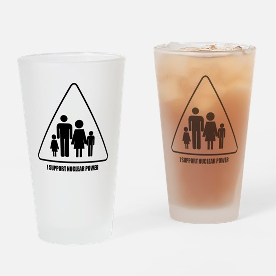Nuclear Power Drinking Glass