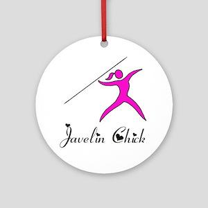 Javelin chick Round Ornament