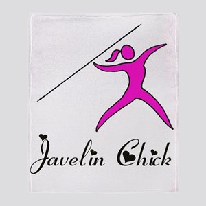 Javelin chick Throw Blanket