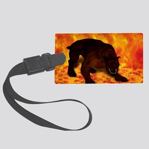 hellhound blanket Large Luggage Tag