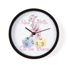 Girl New Kid on the Block Wall Clock