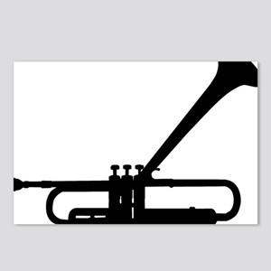 Dizzy Trumpet Black Postcards (Package of 8)