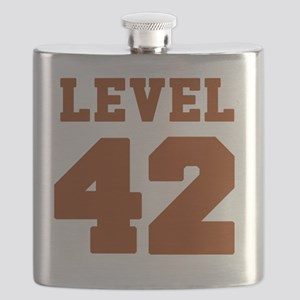 Classic Level 42 Baseball Jersey logo Flask