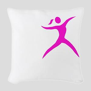 Javelin Chick White Woven Throw Pillow