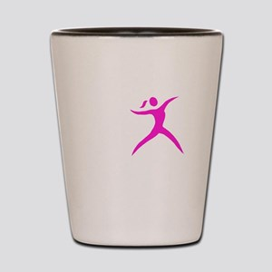 Javelin Chick White Shot Glass