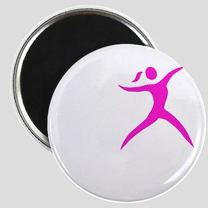 Javelin Chick White Magnet