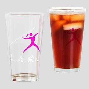 Javelin Chick White Drinking Glass