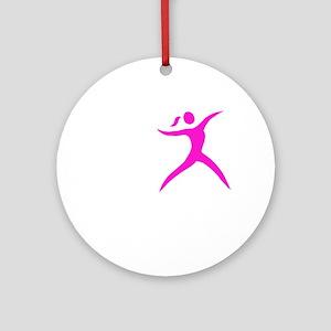 Javelin Chick White Round Ornament