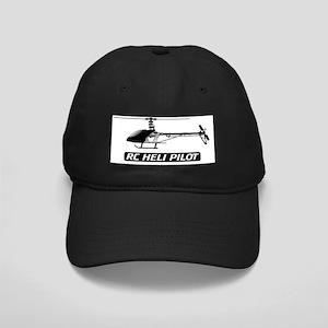 RC Heli Pilot Fin Black Cap
