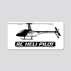 RC Heli Pilot Fin Aluminum License Plate