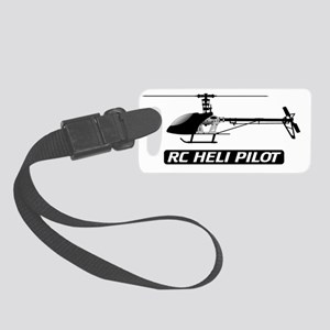 RC Heli Pilot Fin Small Luggage Tag