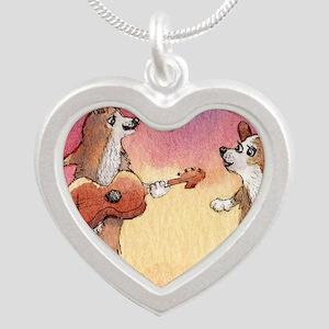 Aroo, aroo, aroo... Silver Heart Necklace