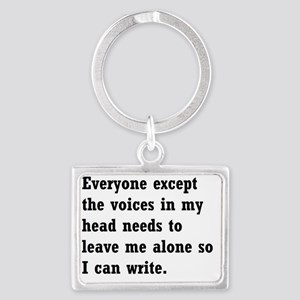 Everyone leave me alone Landscape Keychain