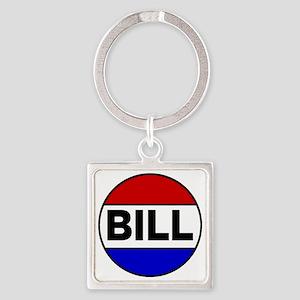 bill Square Keychain
