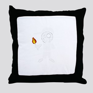 Shirt - I have fire. I fix things (ma Throw Pillow