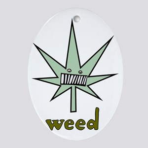 Weed logo Oval Ornament