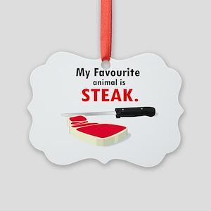 Steak Picture Ornament