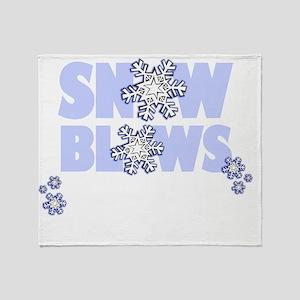 SNOWBLOWS_movesouth_light Throw Blanket