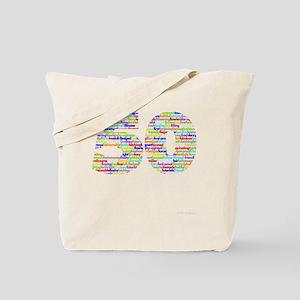 50 black Tote Bag