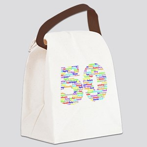 50 black Canvas Lunch Bag